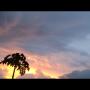 le ciel de l'apres midi avant le cyclone