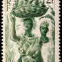vieux timbre de 2 francs Guadeloupe