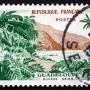 vieux timbre de 8 francs basse terre Guadeloupe