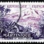 vieux timbre de 20 francs Martinique