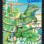 vieux timbre de France iguane des Antilles