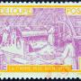 vieux timbre de Guadeloupe moulin a canne